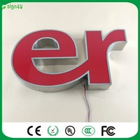 Factory Outlet Outdoor Waterproof Acrylic Led Channel Letters Light