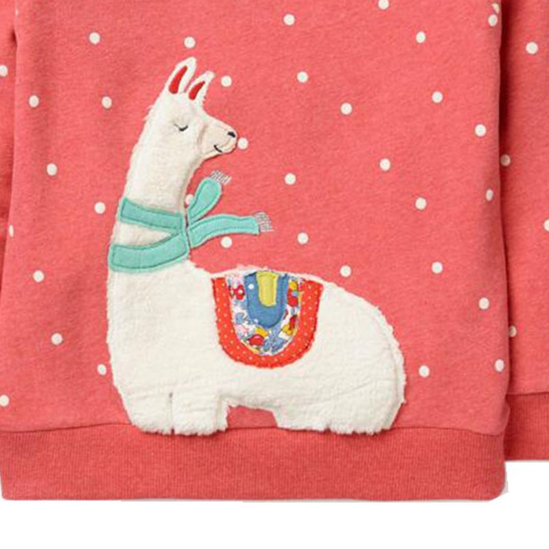 Saileroad algodão ovelhas bordado crianças hoodies camisolas
