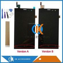 Лучшие Высокое качество для Экран Zera S (rev. s) ЖК-дисплей Дисплей + Сенсорный экран планшета Ассамблеи черный Цвет с инструменты лента