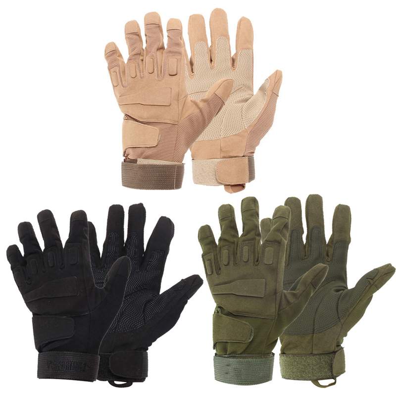Outdoor Tactical Gloves Full Finger Sports Hiking Camping Cycling Military Men's Gloves Armor Protection Shell Gloves 3 Colors touch screen mountaineering outdoor full half finger tactical gloves combat soft shell soft shell tactical gloves