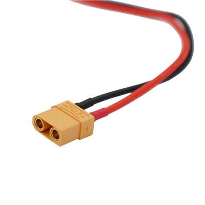 """XT90 мужской/женский разъем типа """"банан"""" с силиконовым зарядным кабелем 14AWG Lipo для FPV RC Quadcopter Скидка 40 - Цвет: Male"""
