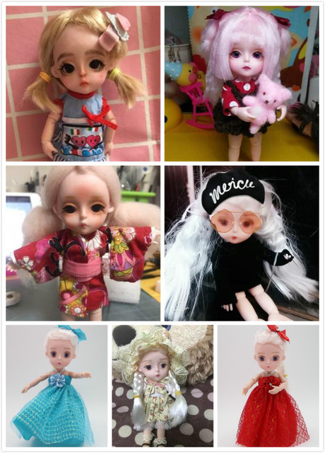 Small Princess Doll 1/8 Cute  bjd  1/8 joint body 3D eye plastic doll suitable for 18 wig face can DIY Head circumference 14cm 1