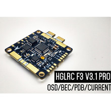 HGLRC F3 V3.1 PRO FPV Flight Controller Integrated OSD Current Meter 12 5V 3A BEC + PDB, 2S-6S For FPV Quadrocopter RC Drone