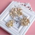 2015 nuevo diseño elegante de oro del pin de pelo nupcial perla del rhinestone peine del pelo de la boda accesorios de la joyería