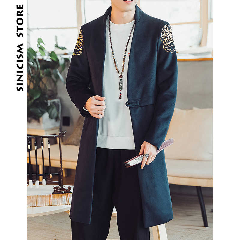 49275189d567 Detail Feedback Questions about Chinese Style Trench Men s Retro ...