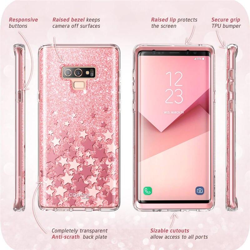 For Samsung Galaxy Note 9 Case i Blason Cosmo Full Body Glitter Marble Bumper Protective Cover