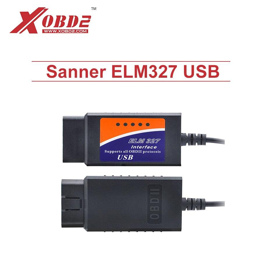 Prix pour ELM327 USB V2.1 Scanner En Plastique avec FT232RL Puce OBD2 De Voiture Outil De Diagnostic basé sur PC de Balayage Soutien DOS et Windows