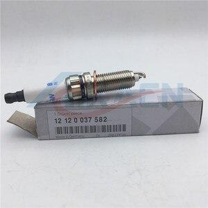 Image 1 - مجموعة من 6 قطع الأصلي إيريديوم شمعات الإشعال 12120037582 ZR5TPP33 ل BMW E82 E88 F10 F13 135i 535i X1 شرارة المكونات