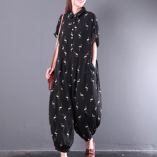 Animal print female casual jumpsuit Boho style womens rompers jumpsuit comfly chiffon jumpsuits