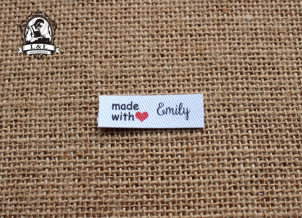 128 Custom Tags brand labels Custom Clothing Tags Name label Ironing label TB009