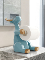 Nordic simplified deer rolls, paper shelf, creative living room tea table, tabletop tissue box, household kitchen napkin rack