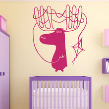 Hoorns Herten Fawn Dier Decals Kite DIY Kinderkamer Kids Nursery Muurstickers Speelkamer Braak Adhesive Art Decal SYY284(China)