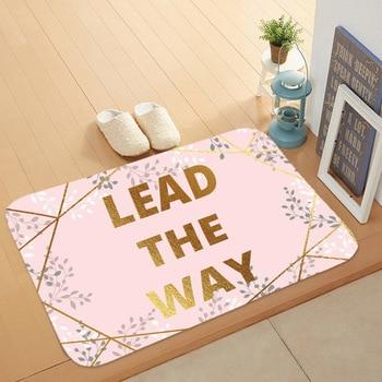 Felpudo de cocina, alfombrilla para el suelo, Alfombra de mármol con letras, alfombra nórdica antideslizante para baño, alfombrilla de baño, felpudo de cocina de 40x60 cm
