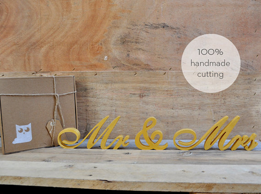 mr and mrsgold wooden pvc letters wedding sign wedding decor