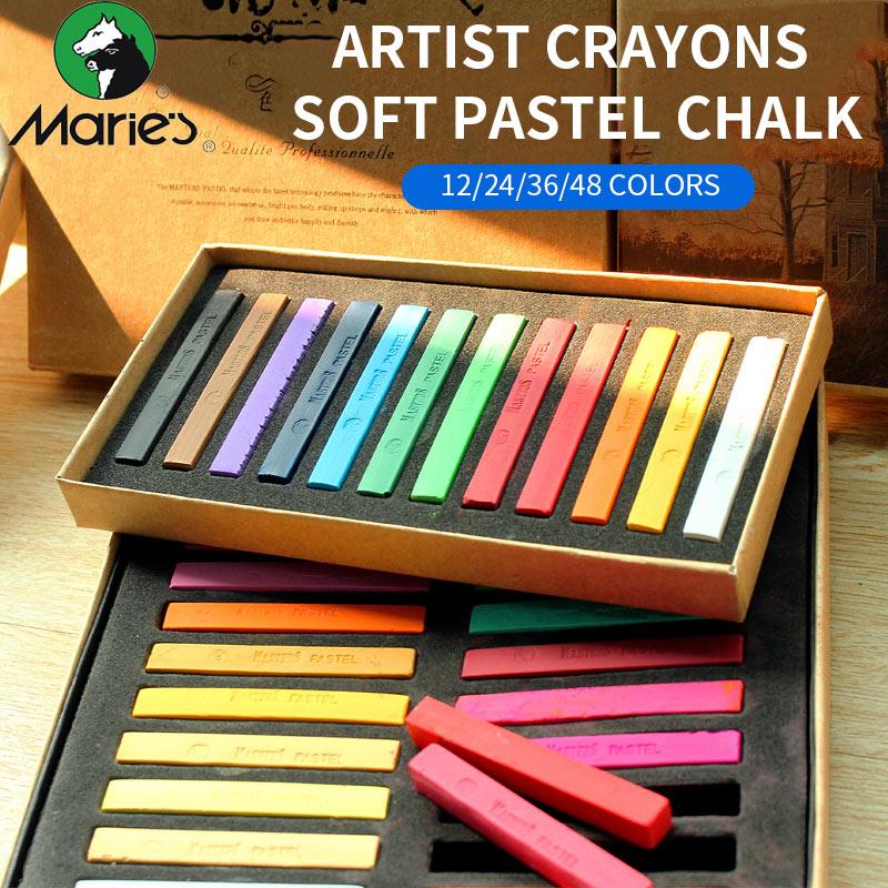 Marie pintura lápices de colores Pastel suave 12/24/36/48 colores arte dibujo para estudiante de Color lápiz cepillo arte papelería y Escritorio