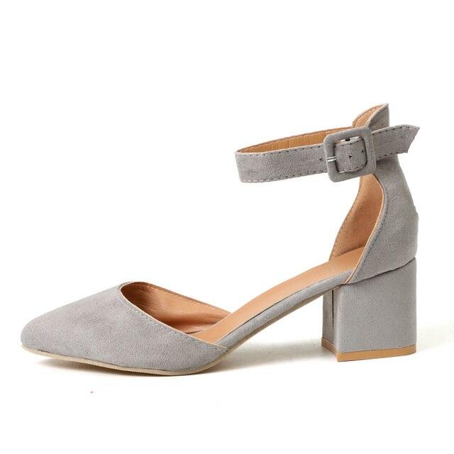 Women Ankle Strap Low Heels Sandals 4