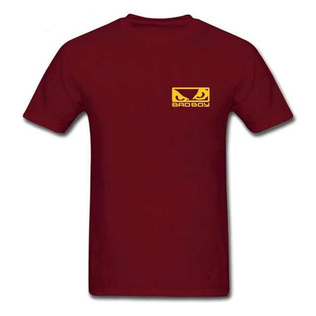 Baru Lengan Pendek Kasual T Harga Grosir MMA Anak Nakal BADBOY Kreatif Dicetak Pria Putih T-shirt T kemeja untuk