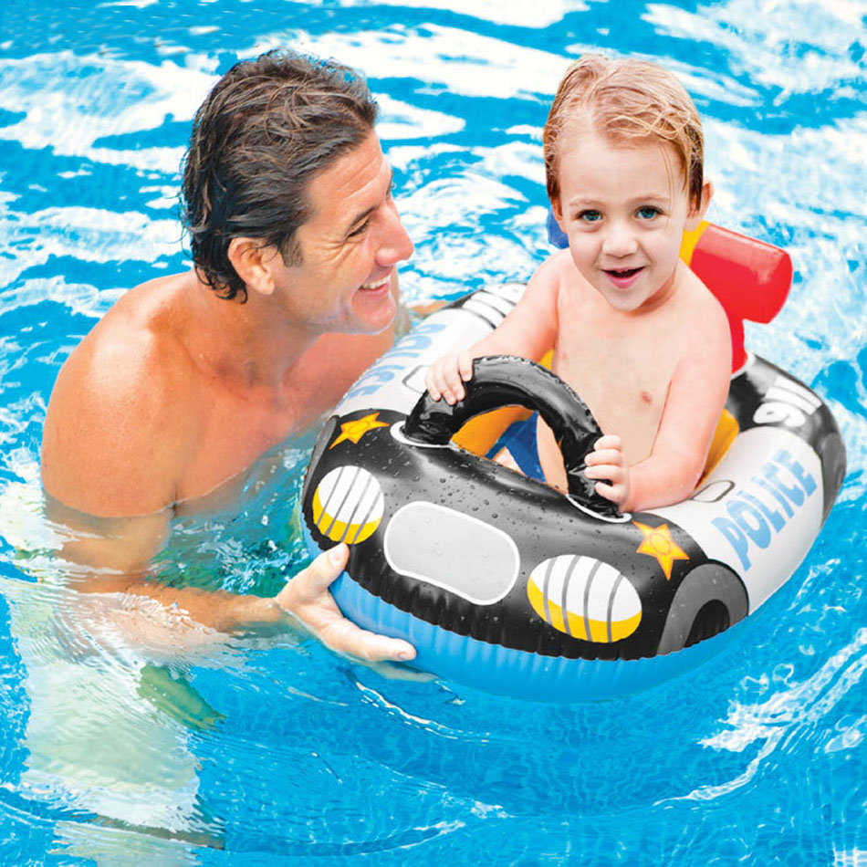 Baby bed zomer - Baby Swimming Pool Floats Air Mattress Inflatable Swim Ring Bed Buoy Kickboard Water Boat Toy Summer