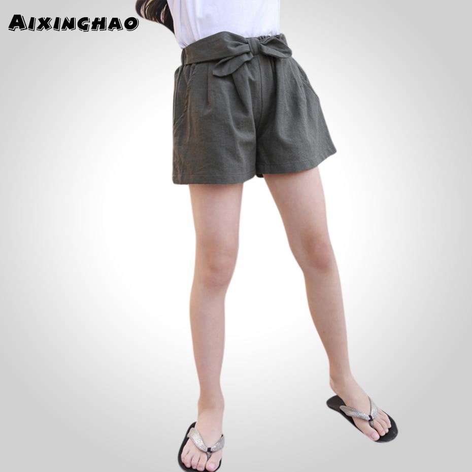 Pants Girls Kids Summer Wide Leg Kids Shorts Trousers -2089
