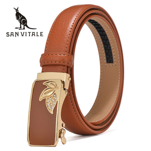 Women's belts genuine leather designer High quality belt women luxury straps for woman fashion automatic buckle belts for Dress(China)