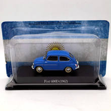 IXO Altaya 1:43 Fiat 600D 1962 Blue Diecast Models Limited Edition Collection Toys Car 1 43 ixo diecast model car brazilian classic fiat uno 1983 miniature vehicle