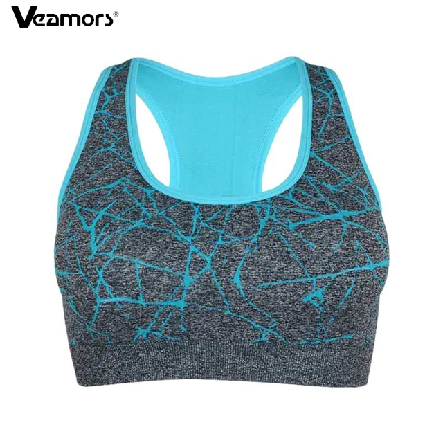 VEAMORS Women Quick Dry Running Sports Bra,Padded Seamless Fitness Underwear Yoga Tops ,Push Up Shockproof Stretch Athletic Vest