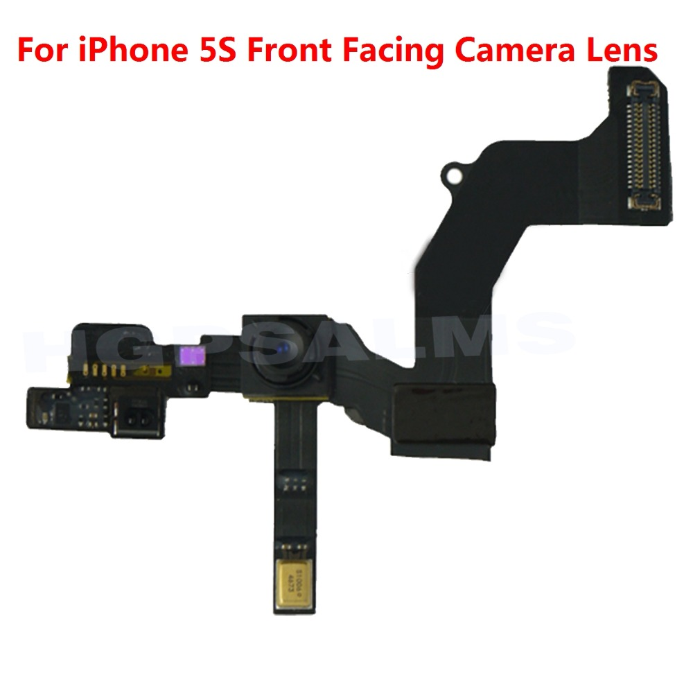 High Quality Front Camera Ring Holder For iPhone 5S Front Facing Camera Lens Right Proximity Sensor Flex Cable image