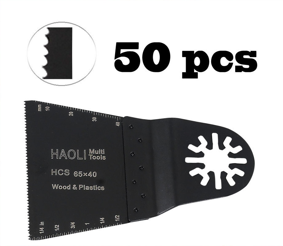 50 pcs 65mm HCS oscillating tool saw blades for power multi tool accessories as Fein multimaster,TCH, Dremel,wood cutting двухсекционная лестница эйфель классик 2х10