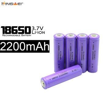 KingWei 1200Pcs Wholesale High Quality Li-ion Rechargeable 18650 Battery 2200mah 3.7v Bateria for Flashlight