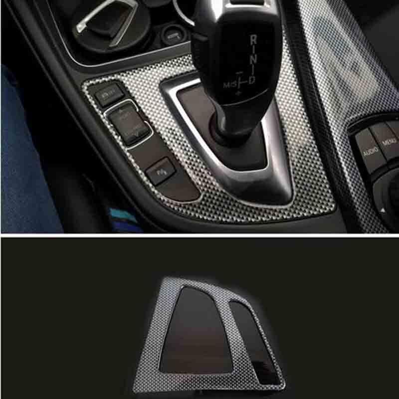 Panneau décoratif de style de panneau de vitesse automatique de voiture de fibre de carbone pour BMW F30 F34 F31 F32 320i 316i 328i 420i 2012-2016 LHD