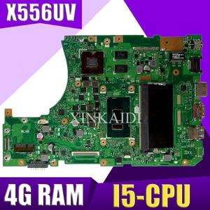 XinKaidi DDR4-4G RAM I5-CPU X556UV Laptop motherboard para ASUS X556UQ X556UB X556UR X556U X556 X556UV Teste mainboard motherboard