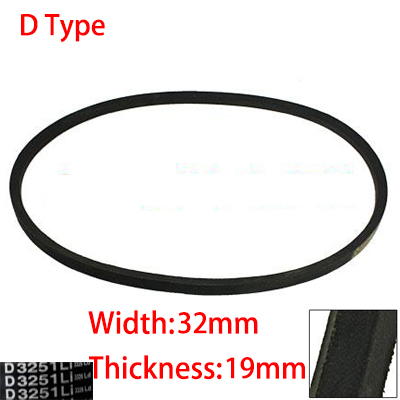 D 3658 3708 3759 3810 32mm Width 19mm Thickness Rubber Groove Cogged Machinery Drive Transmission Band Wedge Vee V Timing Belt