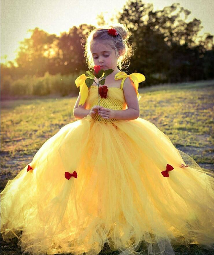 2019 Girls Summer Dress Kids Cindrella Snow White Cosplay Costume Baby Girl Princess Dress Rapunzel Aurora Belle Dress Vestidos
