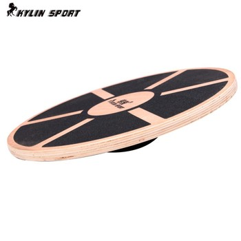 Wooden balance board skid counterweight balance training and the training of difficult personal and educational supplies