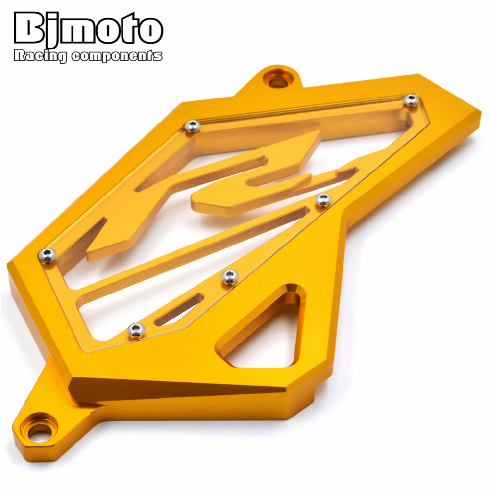 BJMOTO CNC Aluminum Front Sprocket Chain Guard Cover Left Side Engine For Yamaha YZF R3 MT03 MT25 2015-2018 YZF R25 2013-2018