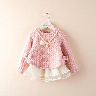 Осень платье девочка платье свободного покроя платье детей длинным рукавом ребенка и дети ну вечеринку девушки платья свадебные платья menina infantis 3-8Y