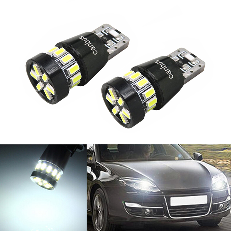2x Canbus Car 3014 SMD T10 <font><b>LED</b></font> W5W Projector Lens Auto Lamp Light Bulbs for <font><b>renault</b></font> megane 2 <font><b>duster</b></font> logan clio laguna 2 Koleos image