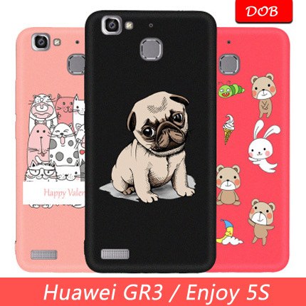 Huawei GR3 5.0 inch Case Luxury Paint Soft Tpu Phone Case Huawei GR3 TAG-L21 TAG-L13 TAG-L23 / Enjoy 5S Case Silicone Cover #DP