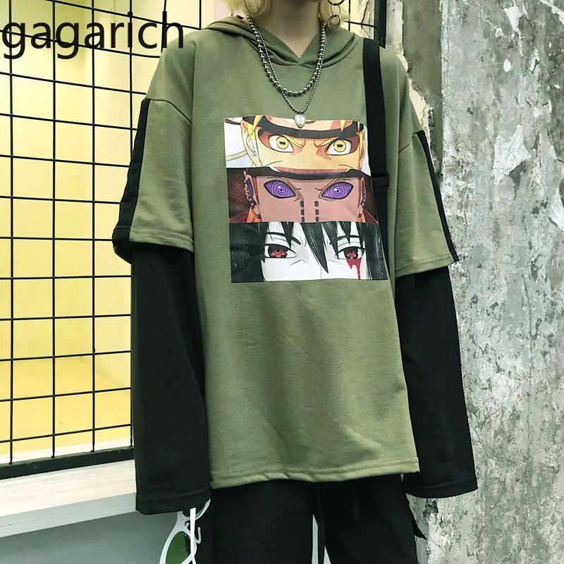 Gagarich женские толстовки 2019 корейская версия Харадзюку с принтом комиксов пэчворк поддельные две толстовки