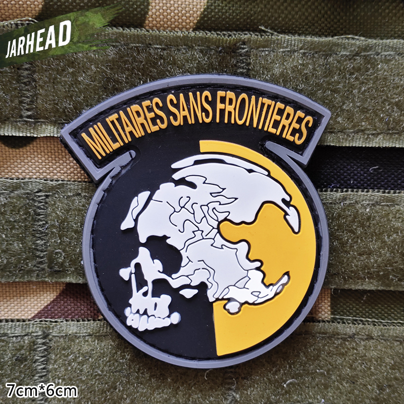 Militaires Sans Frontieres Military Pvc Patches Velcro Rubber Armband Tactical Badge Personality For Backpack Hat Clothes Jacket