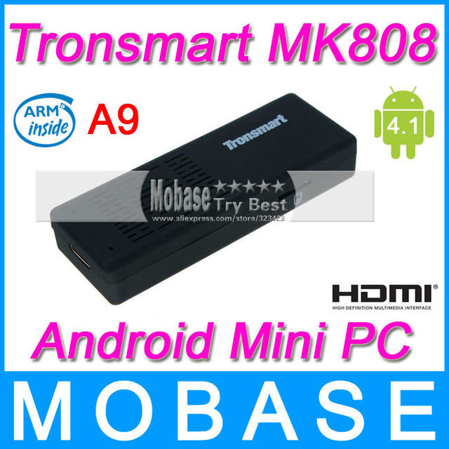 Original Tronsmart MK808 Mini PC Google Android TV BOX Dongle Stick RK3066 Dual Core Cortex A9 1G/8G Built-in WiFi HDMI Black