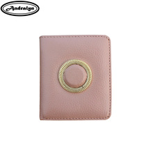 Andralyn Retro Natural Leather Purse Women 2018 New European Fashion Hasp Short Wallet Lady's Round Small Chain Purse