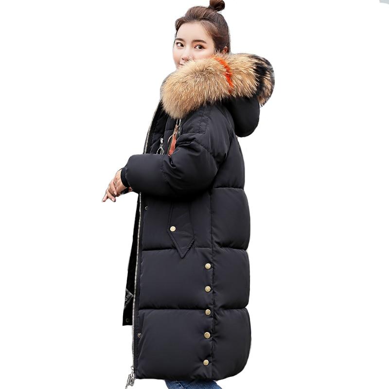 2019 New Fashion Hooded Womens Winter Jackets Long Warm High Quality Winter Jacket Women Outwear Female Coat   Parka   Oversize