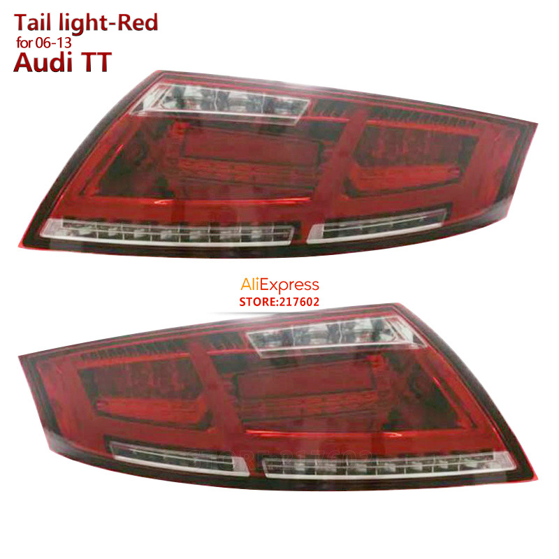 for Audi TT LED Tail Lights 2006 to 2013 year Red Housing ensure High quality & fitment & durability Fashion Looks visibility