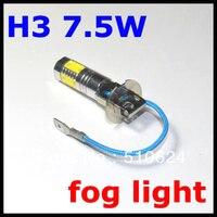 2PCS H3 7 5W Super Bright Car LED Front Headlights High Power Light Fog Bulb Lights