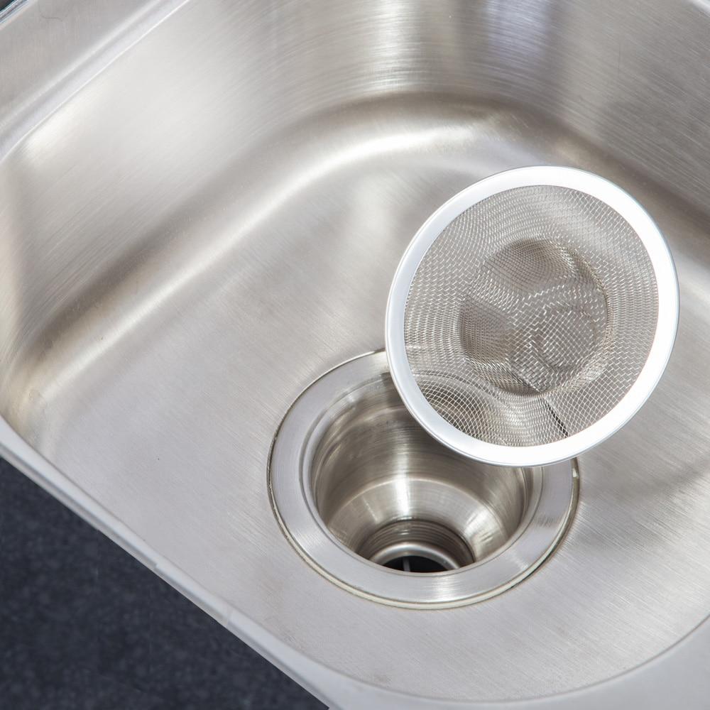 2pcs Kitchen Sink Strainer 304 Stainless Steel Metal Drain For Bathtub Basin Bathroom Floor Drain  Strainer Prevent Clogging Hot
