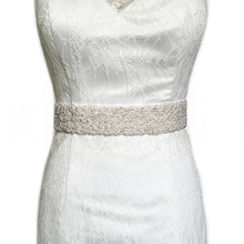 TRiXY S20 Handmade Pearls Sash Beaded Belt Wedding Belts Luxury Pearls Belt Wedding Sashes Bridal Belt Sashes Beaded Bridal Belt
