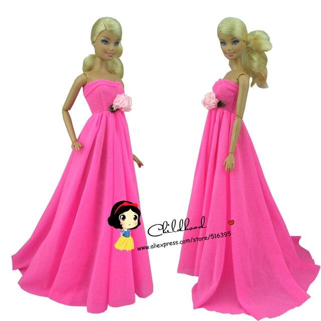 Envío gratis Rose Pink color de noche vestido de fiesta vestido para ...
