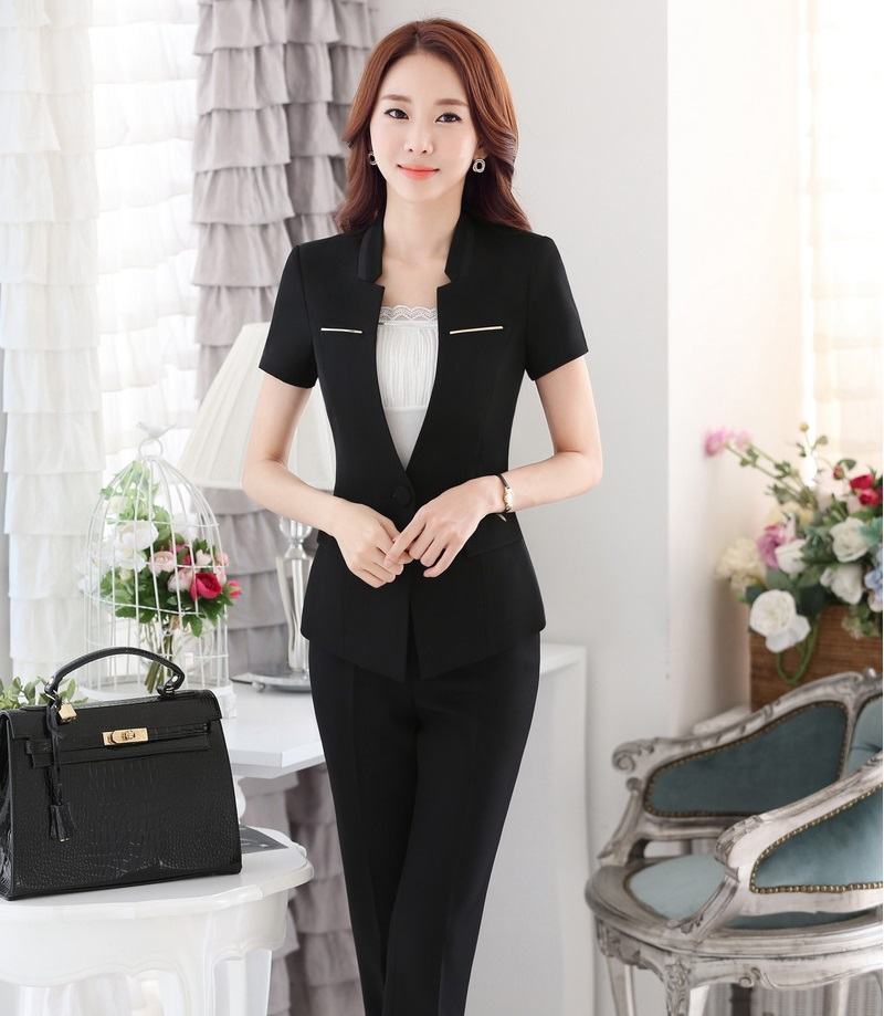 791cb0dc378 Formal OL Styles Female Pantsuits Business Women Professional Work ...