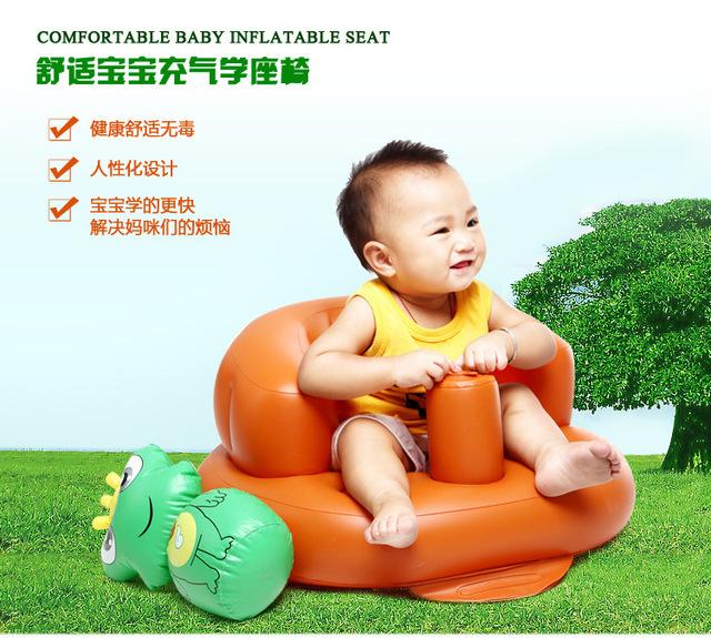 2016 assento de bebê cadeira de jantar sofá inflável cadeira portátil fezes do bebê cadeira de assento jogo sofá tapete crianças aprender